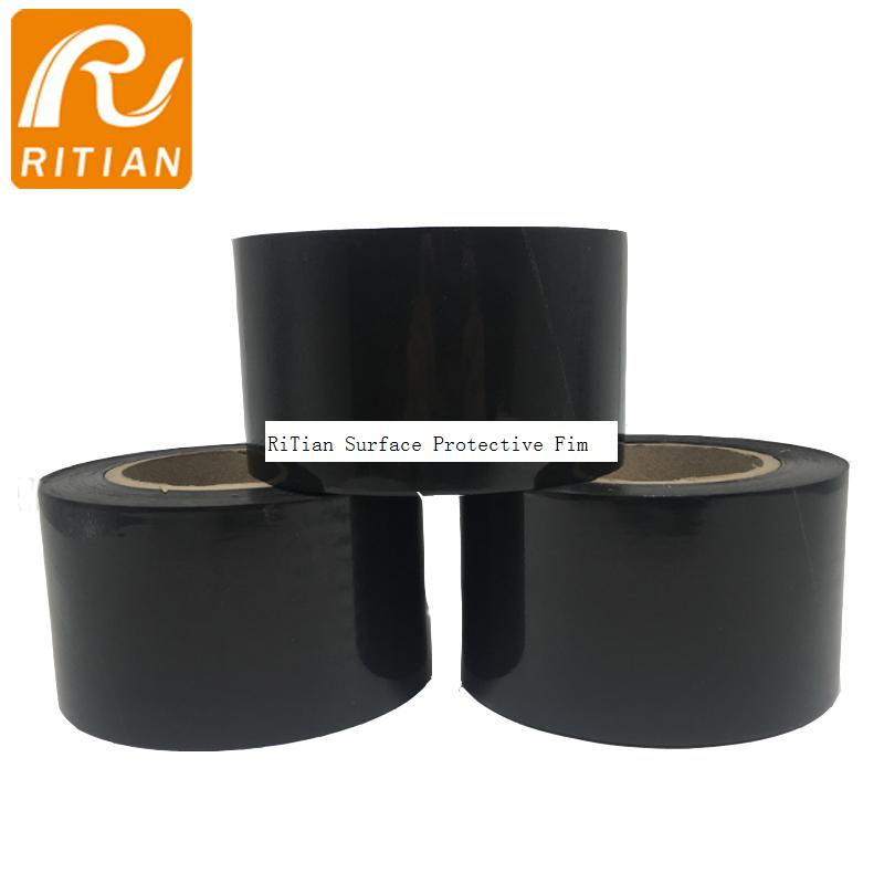 Black PE Surface Protection Film 1240mm*100m Remove No residue
