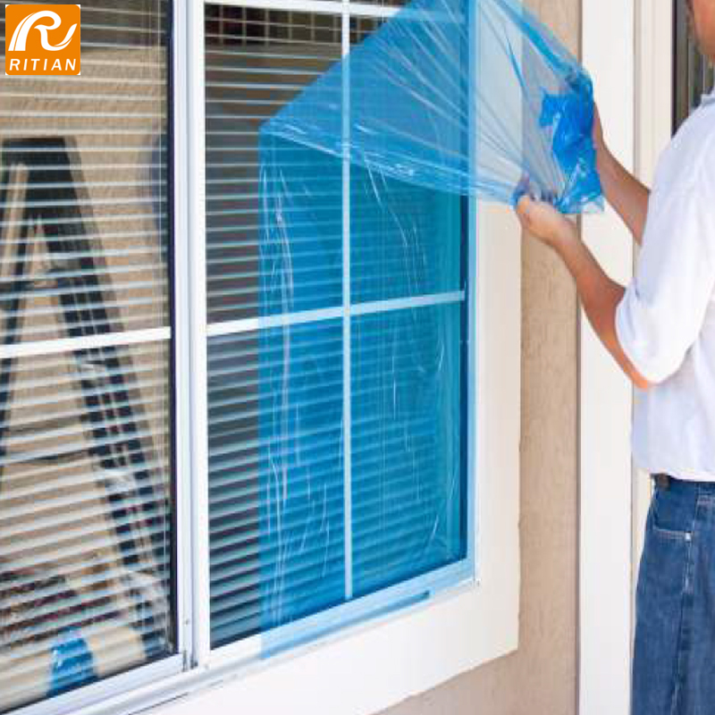 PE Blue Surface Protection Film For Glass Window