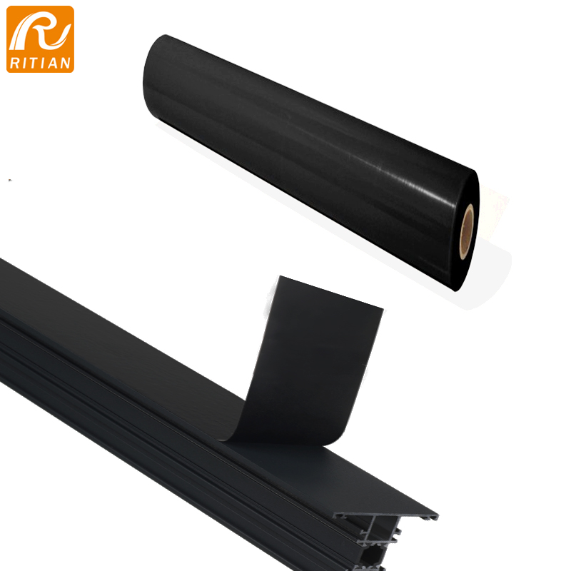 High Tack Black PE Protection Film For Rough  Aluminum Profile